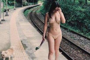 Sao nữ Đài Loan gây tranh cãi khi mặc bikini đi dạo ở nhà ga