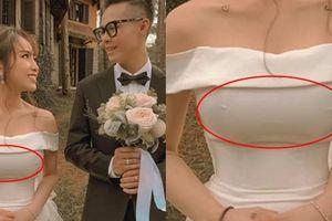 Khoe ảnh sau đám cưới, ái nữ nhà Minh Nhựa làm ai cũng tưởng đang 'thả rông' vòng một