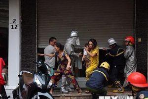 Hà Nội: Hiện trường vụ cháy lớn căn nhà 5 tầng trên phố Núi Trúc
