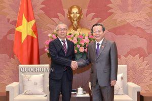 Phó Chủ tịch Quốc hội Phùng Quốc hiển tiếp Phó Chủ tịch Cơ quan hợp tác quốc tế Nhật Bản