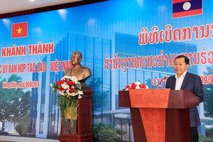 Khánh thành trụ sở Ủy ban hợp tác Lào-Việt Nam tại Vientiane