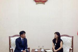 Cục Hợp tác quốc tế tiếp Trưởng đại điện tập đoàn KUMHO tại Việt Nam