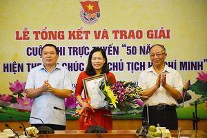Bộ Tư pháp trao giải Cuộc thi '50 năm thực hiện theo Di chúc của Người'