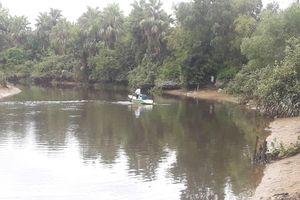 Đang tìm bắt cá sấu xuất hiện trên sông cầu Đông ở Hà Tĩnh