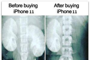 Chờ ra mắt iPhone 11, dân mạng chế ảnh 'bán thận' mua siêu phẩm 'táo cắn dở'