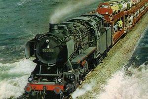 Đức: Chiêm ngưỡng những chuyến tàu hỏa chạy giữa biển khơi