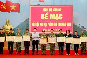 Bế mạc diễn tập khu vực phòng thủ tỉnh Hà Giang năm 2019