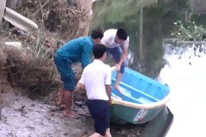 Hà Tĩnh: Dân trình báo nhìn thấy cá sấu khoảng 50kg trên sông