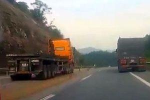 Tước GPLX 2 tháng tài xế lấn làn vượt ẩu trên cao tốc
