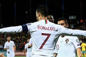 Vòng loại EURO 2020: Ronaldo lập 'poker' giúp Bồ Đào Nha đại thắng