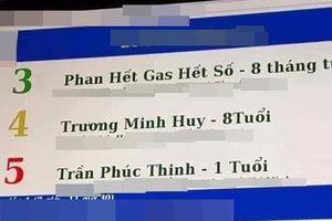 Cậu bé 8 tháng tuổi có tên đặc biệt 'Phan Hết Gas Hết Số' khiến dân mạng xôn xao