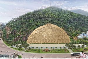 Bình Định chi hơn 80 tỷ đồng tạc bức phù điêu 'khủng' vào vách núi