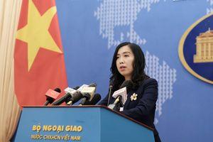 Yêu cầu Trung Quốc rút ngay nhóm tàu vi phạm khỏi vùng biển Việt Nam
