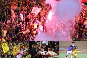 Nam Định thảm bại trước Hà Nội, fan bắn pháo làm một phụ nữ rách đùi 20cm