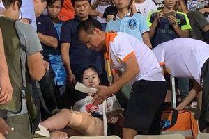 Báo Nam Định đưa tin về sự cố khiến CĐV trúng pháo, công an Hà Nội truy tìm thủ phạm