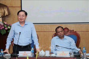 Tổ công tác về kiểm tra công vụ của Thủ tướng Chính phủ làm việc tại Bắc Kạn