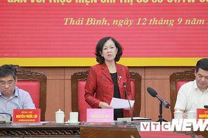 Trưởng ban Dân vận Trung ương: 'Cơ cấu cán bộ nữ tham gia cấp ủy cần đạt 15% trở lên'