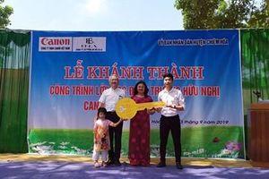 Khánh thành điểm trường thuộc 'Chuỗi trường học hữu nghị Canon' tại Tuyên Quang