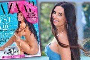Minh tinh Demi Moore khỏa thân quyến rũ trên tạp chí ở tuổi 57