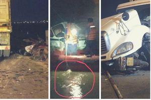 Thông tin mới vụ xe container tông văng người đi xe máy xuống sông Hồng