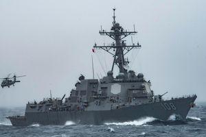 Tàu khu trục tên lửa 'Wayne E. Meyer' của Mỹ áp sát các đảo Hoàng Sa