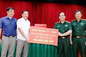 Quyên góp giúp đỡ Lào khắc phục thiên tai lũ lụt
