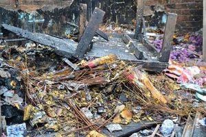 Chợ Bình Long hoang tàn sau vụ cháy kinh hoàng, nghi do đốt vàng mã