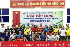 60 VĐV tranh tài Giải Cầu lông thị xã Hồng Lĩnh