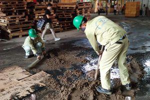 Thu gom khoảng 8.000kg phế thải nhiễm thủy ngân sau vụ cháy Công ty Rạng Đông