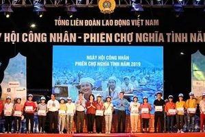 Hơn 2 nghìn người tham gia 'Ngày hội công nhân – Phiên chợ nghĩa tình'
