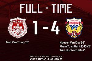 Clip Phố Hiến FC 1-4 Hồng Lĩnh Hà Tĩnh: Sức mạnh vượt trội