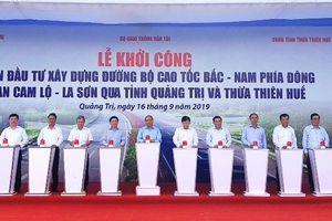 Khởi công đường bộ cao tốc bắc nam đoạn Cam Lộ - La Sơn