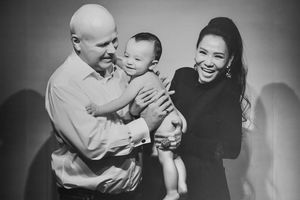 Thu Minh lần đầu công khai cận mặt con trai với chồng Tây