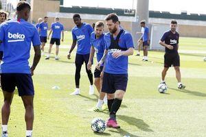 Messi trở lại tập luyện trước chuyến hành quân tới Đức