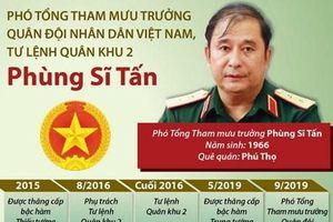 Tiểu sử hoạt động của Trung tướng Phùng Sĩ Tấn