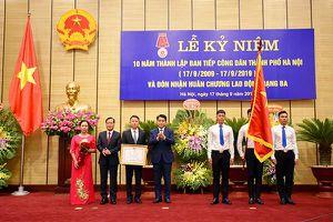 Ban Tiếp Công dân TP Hà Nội đón nhận Huân chương Lao động hạng Ba