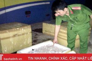 Bắt giữ xe ô tô chở 1 tấn thịt mèo bốc mùi hôi thối chạy qua Hà Tĩnh