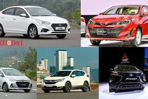 Top 5 xe ô tô bán chạy nhất từ đầu năm 2019