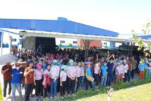Tố cơm trưa có giòi, hàng nghìn công nhân ở Quảng Nam đình công