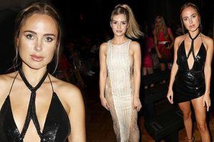 Siêu mẫu Anh quốc và em gái Kate Moss diện váy áo thiếu vải táo bạo