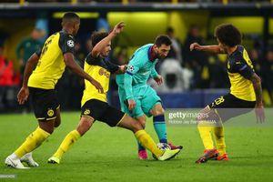Messi đi bộ 30 phút, Barca hòa bạc nhược Dortmund