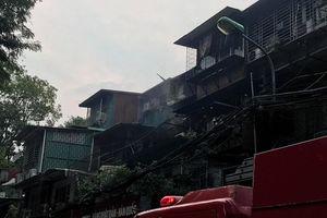 Đã dập tắt đám cháy tại khu tập thể Kim Liên