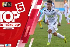 Top 5 bàn thắng đẹp vòng 23 V-League 2019: Quang Hải bất ngờ vắng mặt