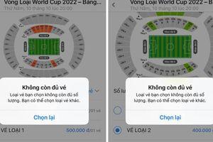 Vé trận Việt Nam - Malaysia 'đắt hàng' phiên mở bán đầu tiên