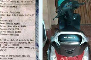 Bị phạt 1.400 USD vì điều khiển xe máy không biển số