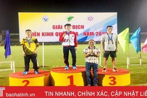 Hà Tĩnh giành 4 huy chương Giải vô địch điền kinh quốc gia năm 2019