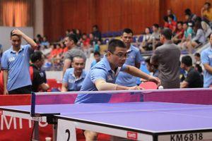 Gần 200 VĐV tranh tài quyết liệt tại Giải Bóng bàn Cúp Hội Nhà báo Việt Nam lần thứ XIII