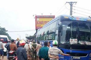 Xe khách mất lái tông 2 người tử vong tại chỗ