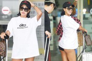 Vbiz có Ngọc Trinh, Kbiz còn sốc hơn vì màn diện quần trong lồ lộ vòng 3 'nhức mắt' của sao nữ Kpop tại sân bay