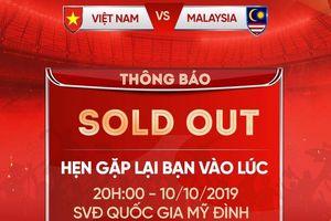 Vé trận ĐT Việt Nam – ĐT Malaysia đã được bán hết